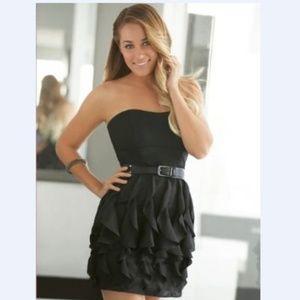 LC Lauren Conrad Dress 14 Waterfall Black Straples
